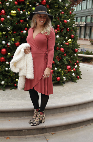 Feeling Festive Wrap Dress
