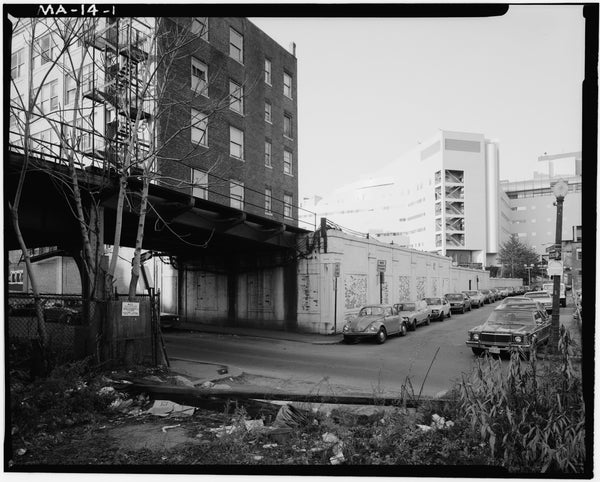 Washington Street Elevated, Ash Street Incline, 1982