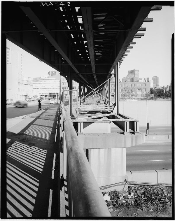 Washington Street Elevated Crossing Turnpike 1982