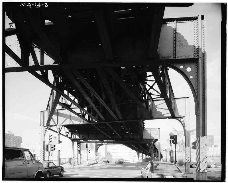 Washington Street Elevated, Under Tower D, 1982