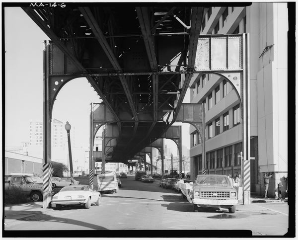 Washington Street Elevated, at Mullins Way, 1982