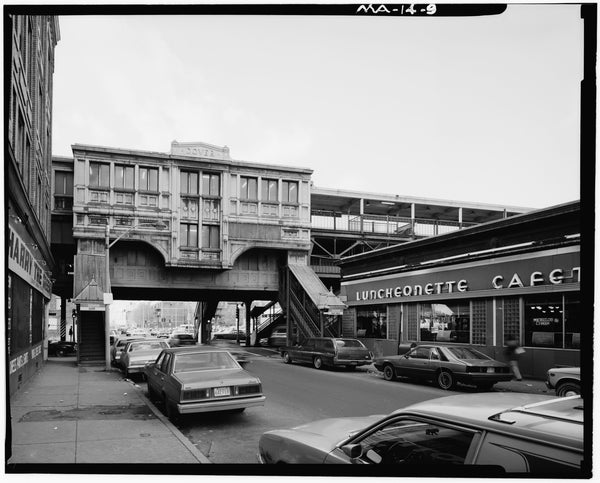 Dover Station, East Elevation, 1982