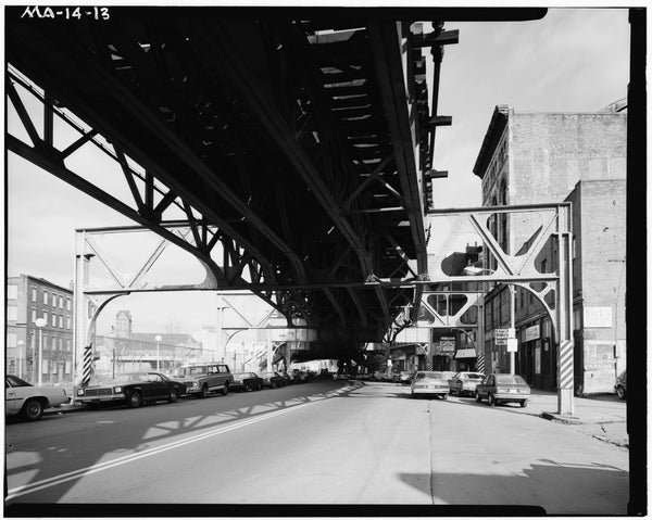 Washington Street Elevated, at Peters Park, 1982