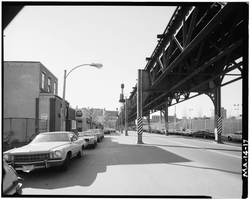 Washington Street Elevated, at Laconia Street Looking South, 1982
