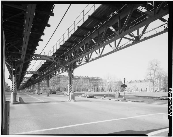 Washington Street Elevated, at Blackstone Square, 1982
