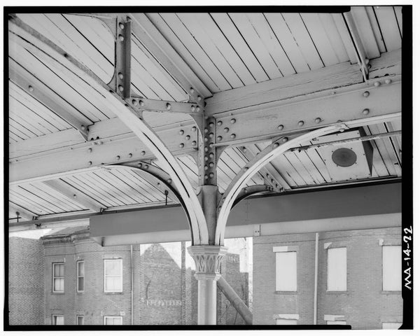 Northampton Station, Platform Column Detail, 1982