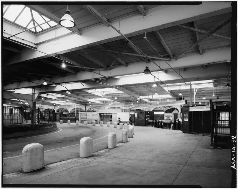 Dudley Street Station, Upper Level Looking West, 1982
