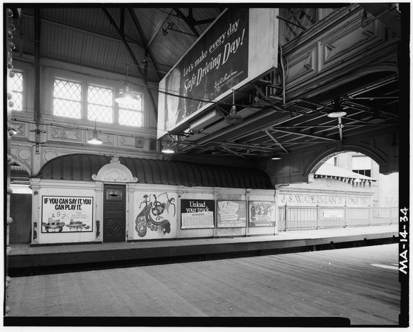 Dudley Street Station, Northbound Platform, 1982