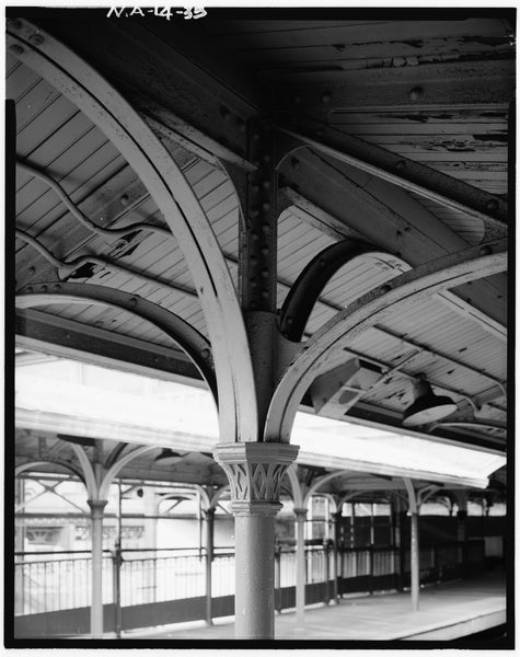 Dudley Street Station, Column Detail, 1982