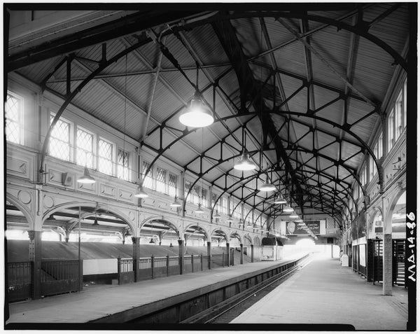 Dudley Street Station, Rapid Transit Platform Looking North, 1982