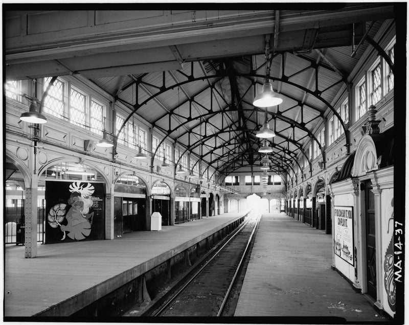 Dudley Street Station, Rapid Transit Platform Looking South, 1982