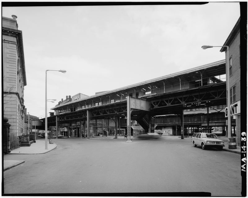 Dudley Street Station, West Elevation, 1982