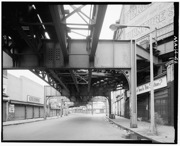 Washington Street Elevated, at Dudley Street, 1982