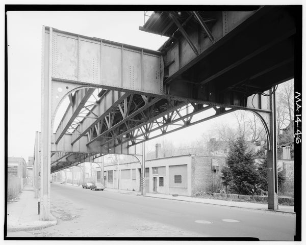 Washington Street Elevated, at Guild Street, 1982