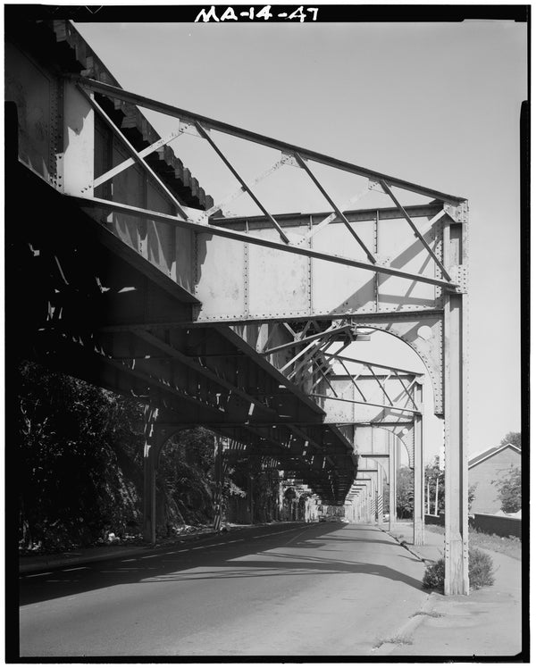 Washington Street Elevated, at Guild Street Looking North, 1982