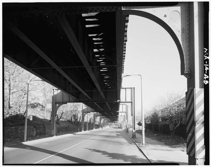 Washington Street Elevated, at Former Cedar Street, 1982