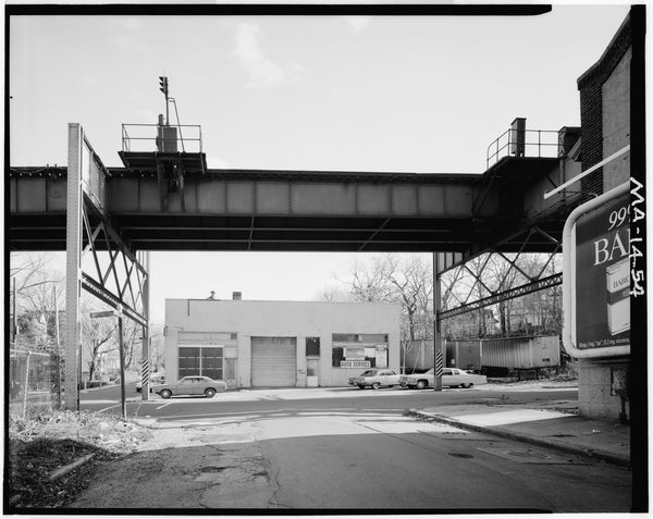 Washington Street Elevated, at Bray Street, 1982