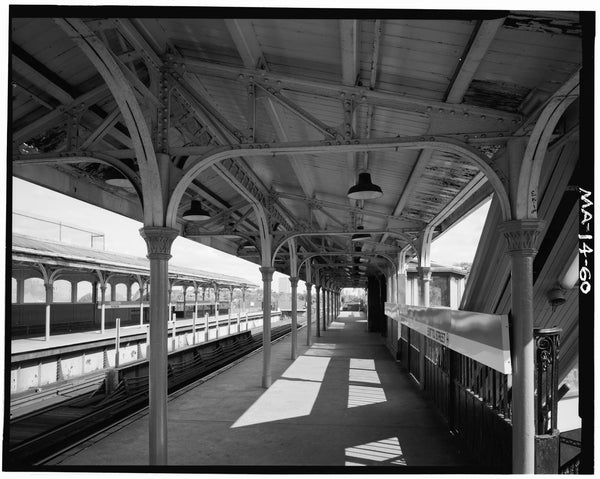 Egleston Square Station, Northbound Platform, 1982