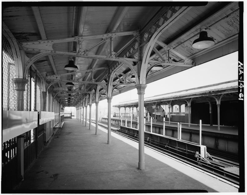 Egleston Square Station, Northbound Platform Looking South, 1982