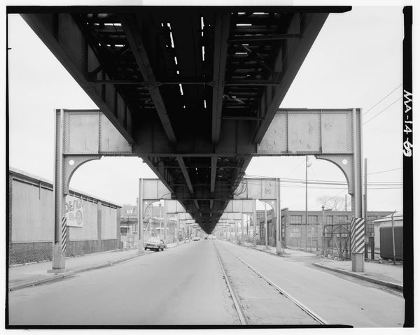 Washington Street Elevated, at Arborway Yards, 1982