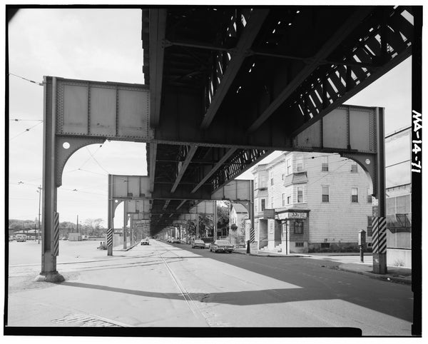 Washington Street Elevated, at Arborway Yard, 1982
