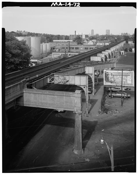 Washington Street Elevated, Arborway Yard, 1982