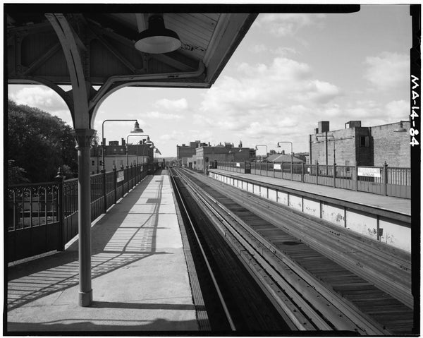 Egleston Square Station, Platform Level Looking South, 1982