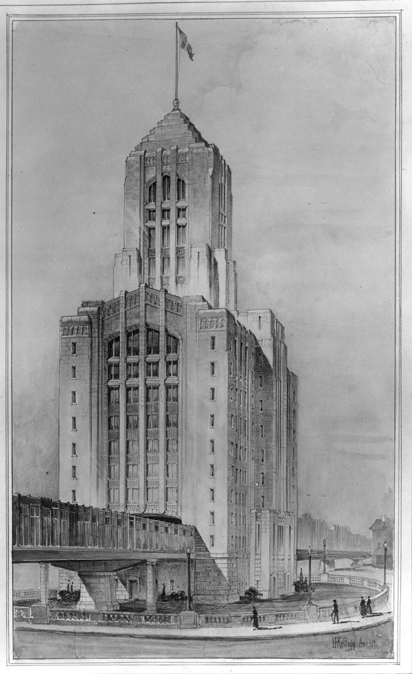 Charles Station Design Proposal Circa 1930