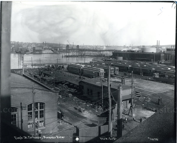 Eagle Street Car House After Fire November 6, 1915