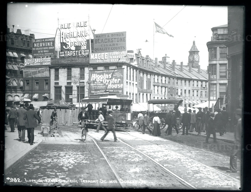 Scollay Square During Subway Construction (Looking East) August 26, 1897