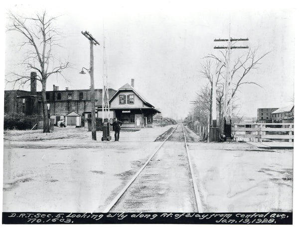 Central Avenue Railroad Depot, January 19, 1928