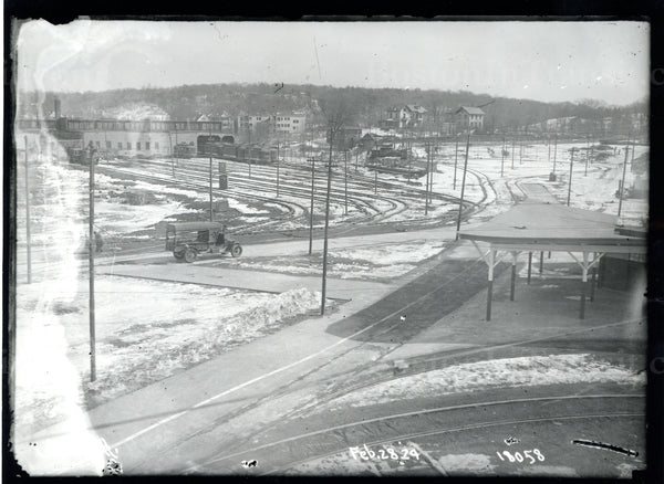 Arborway Station, Car House, and Yard, February 28, 1924