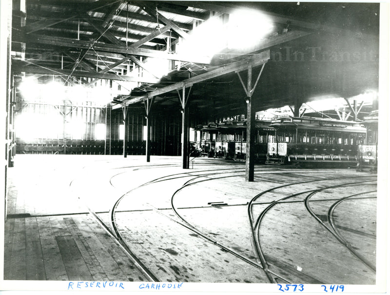 Reservoir Car House Interior II Circa 1900