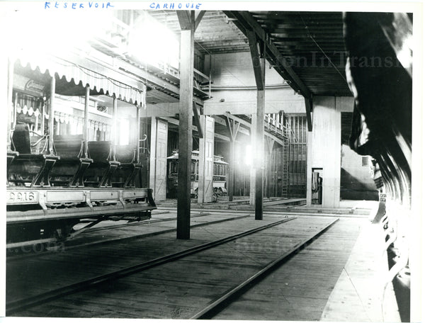Reservoir Car House Interior Circa 1900