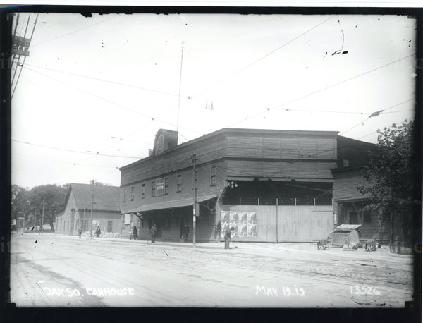 Oak Square Car House, Brighton, May 19, 1919