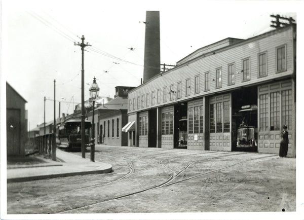 Allston Power Station and Car House Circa 1890s