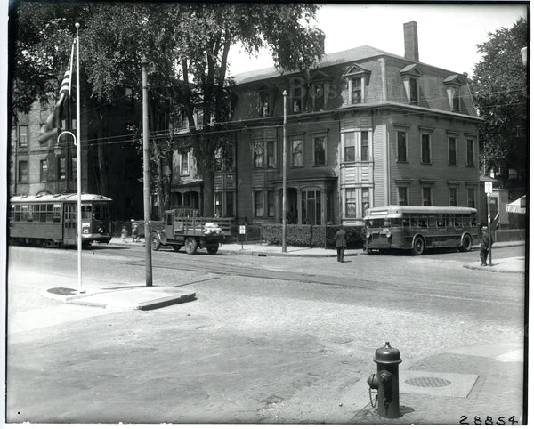 Boston Elevated Railway Co. Type 5 Semi-Convertible Streetcar and Bus Circa 1930s