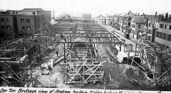 Erecting Andrew Square Station, Dorchester, Massachusetts, November 24, 1917