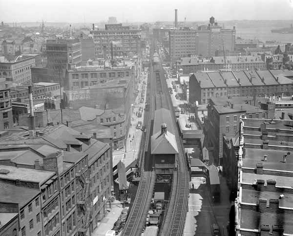 Atlantic Avenue Elevated from Above 1932