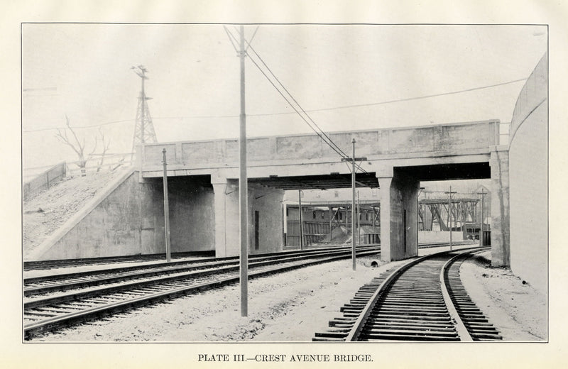 BTD Annual Report 1929 Plate 03: Crest Avenue (Medway Street) Bridge