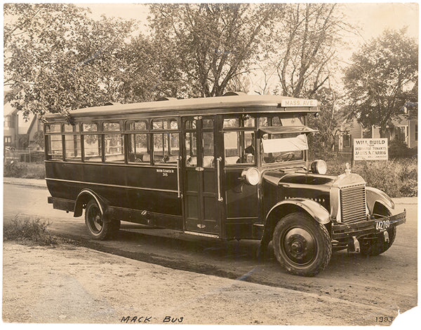 Early Boston Elevated Railway Co. Mack-built Bus, Circa 1930