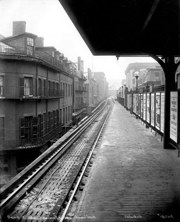 Beach Street Station on the Atlantic Avenue Elevated, February 18, 1909