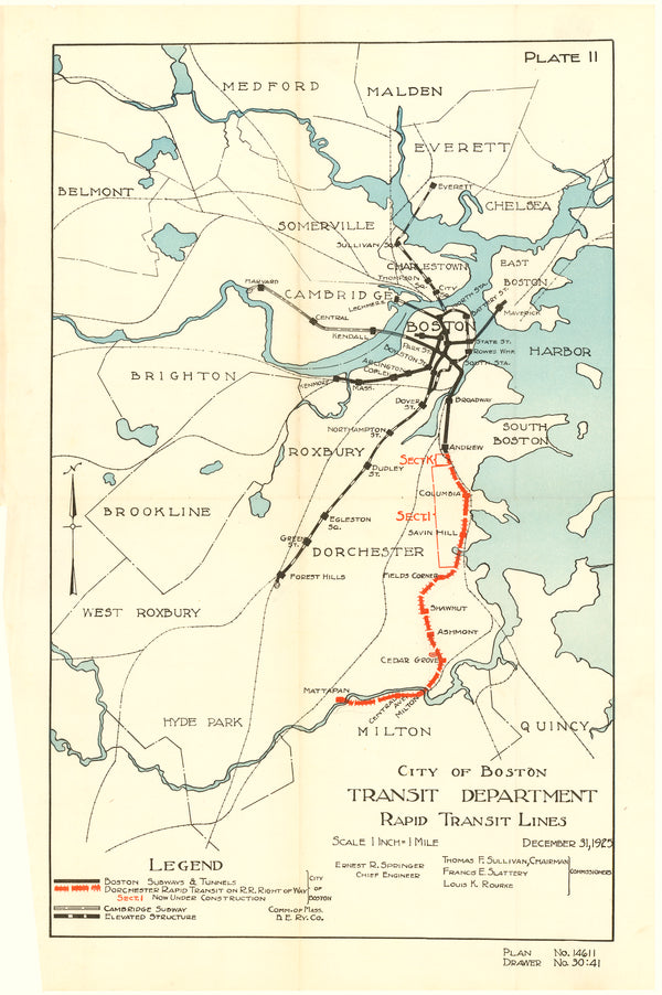 Boston Rapid Transit Lines December 31, 1925