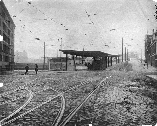 Street-level at Broadway Station, South Boston 1917
