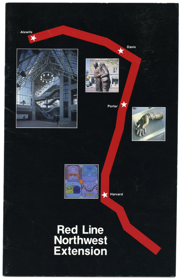 MBTA Red Line Northwest Extension Brochure Circa 1985