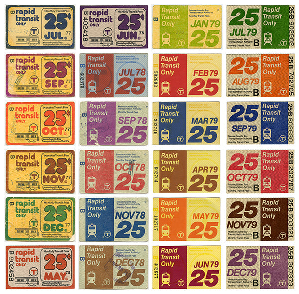 MBTA Passes of the Late 1970s