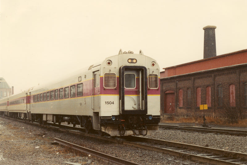 MBTA Commuter Rail Coach #1504, March 12, 1989