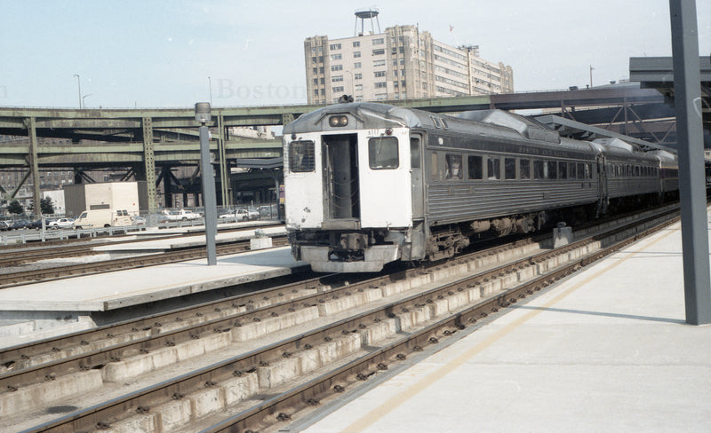 Train of RDCs at North Station 1967