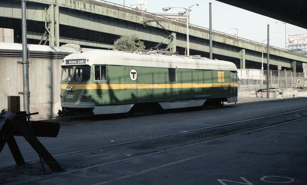 MBTA Work Car 3327 at North Station Street Level 1967