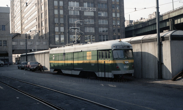 MBTA Work Car 3327 at North Station Street Level 1967 #3